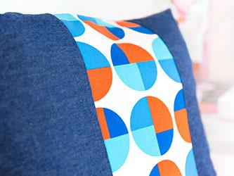 Kissenhülle aus Jeansstoff von Cosima Chiton®